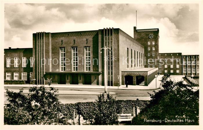 AK Ansichtskarte Flensburg Deutsches Haus Kat Flensburg