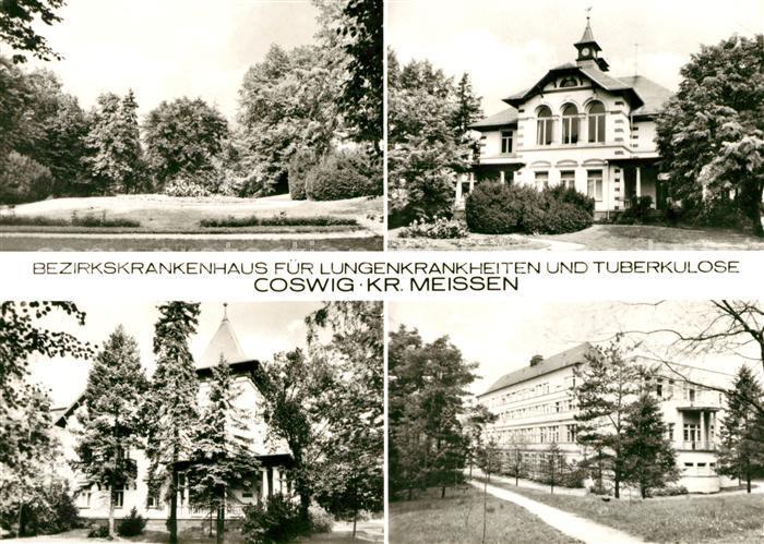 AK / Ansichtskarte Coswig Sachsen Bezirkskrankenhaus Details Kat. Coswig
