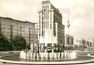 AK / Ansichtskarte Berlin Strausberger Platz Fernsehturm am Alex Wasserspiele Kat. Berlin