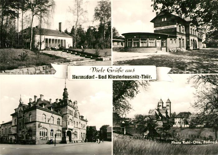AK / Ansichtskarte Bad Klosterlausnitz Hermsdorf Rathaus Bahnhof Kat. Bad Klosterlausnitz