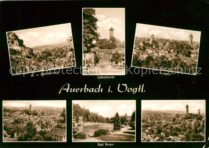 AK / Ansichtskarte Auerbach Vogtland Schlossturm Bad Brunn Panorama Kat. Auerbach