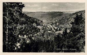 AK / Ansichtskarte Krippen Bad Schandau Landschaftspanorama Saechsische Schweiz Kat. Bad Schandau