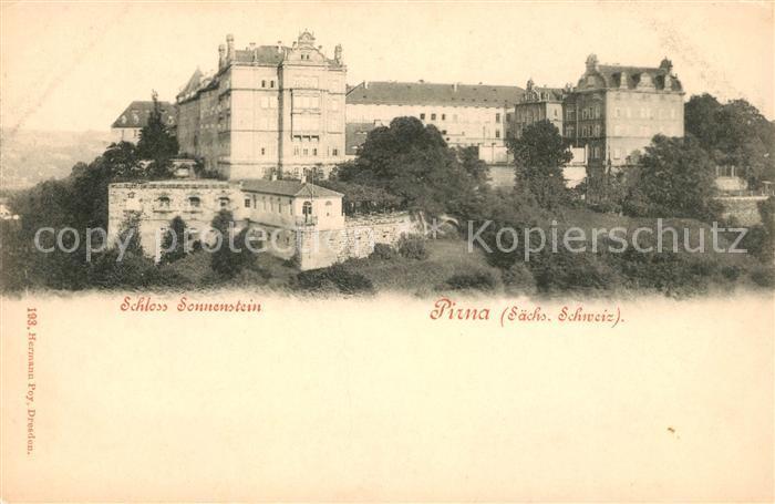 AK / Ansichtskarte Pirna Schloss Sonnenstein Kat. Pirna