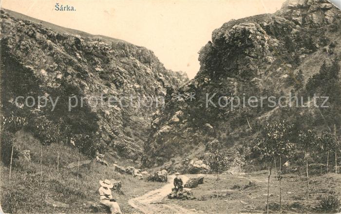 AK / Ansichtskarte Sarka Tal Wanderweg Kat. Naturschutzgebiet Sarecke udoli