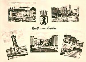 AK / Ansichtskarte Berlin Rathaus Deutsche Staatsoper Stalinallee Alexanderplatz Kat. Berlin
