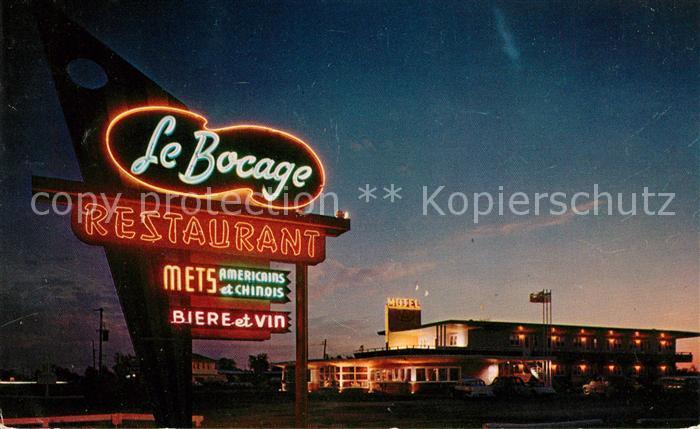 AK / Ansichtskarte Quebec Le Bocage Restaurant Kat. Quebec