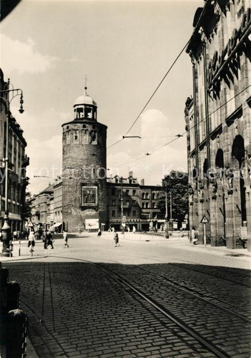 AK / Ansichtskarte Goerlitz Sachsen Marienplatz und Dicker Turm Kat. Goerlitz