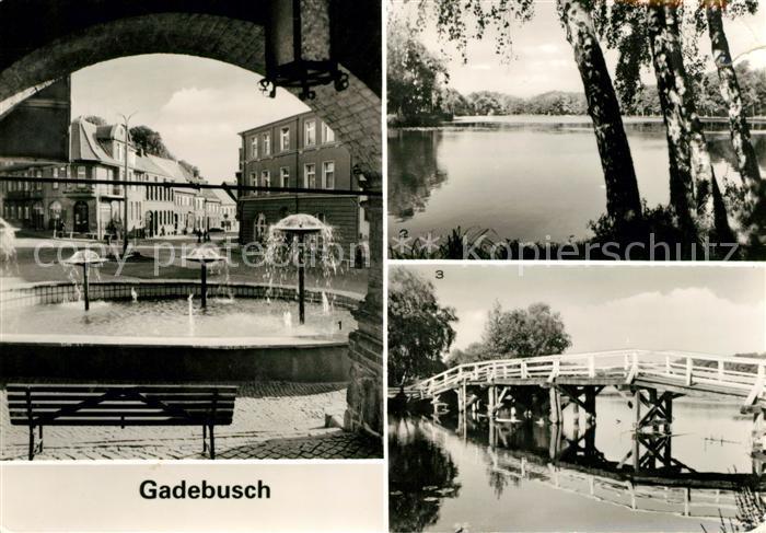 AK / Ansichtskarte Gadebusch Markt Burgsee Seebruecke Kat. Gadebusch