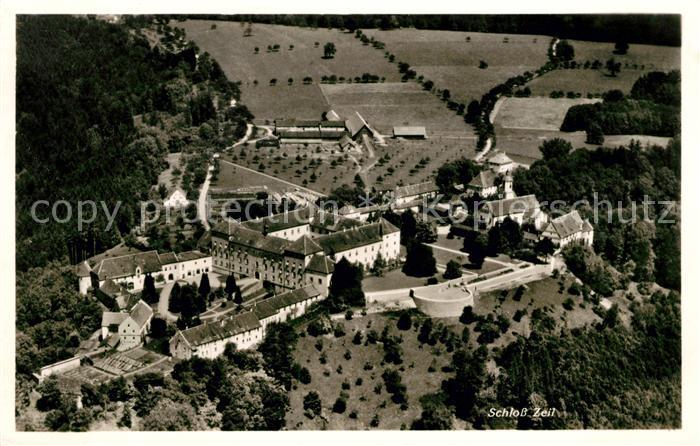 AK / Ansichtskarte Leutkirch Fliegeraufnahme Schloss Zeil Kat. Leutkirch im Allgaeu