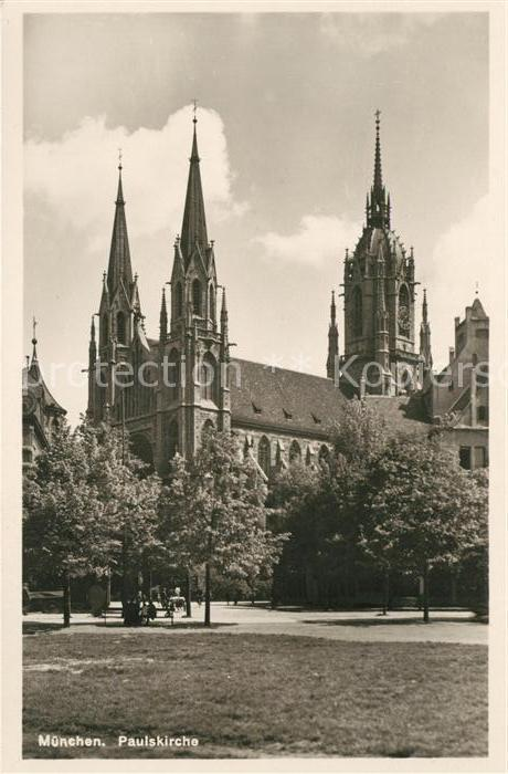AK / Ansichtskarte Muenchen Paulskirche Kat. Muenchen