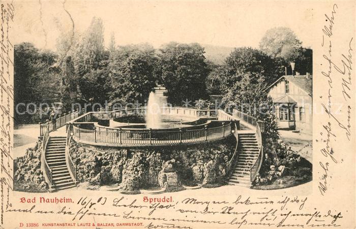 AK / Ansichtskarte Bad Nauheim Sprudel Kat. Bad Nauheim