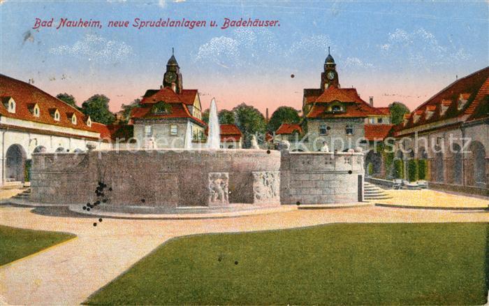 AK / Ansichtskarte Bad Nauheim Neue Sprudelanlagen und Badehaeuser Kat. Bad Nauheim