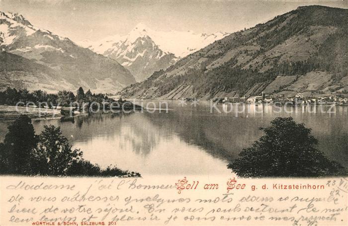 AK / Ansichtskarte Zell See See mit Kitzsteinhorn Kat. Zell am See