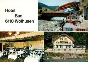 AK / Ansichtskarte Wolhusen Hotel Bad Wolhusen Terrasse Gastraum Kat. Wolhusen