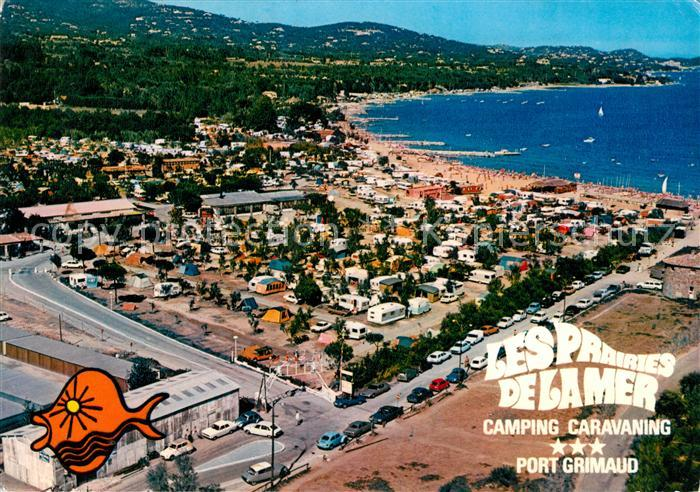 Ak ansichtskarte port grimaud camping caravaning les - Prairies de la mer port grimaud camping ...