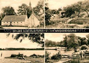 AK / Ansichtskarte Wusterwitz Brandenburg Strand Panoramen