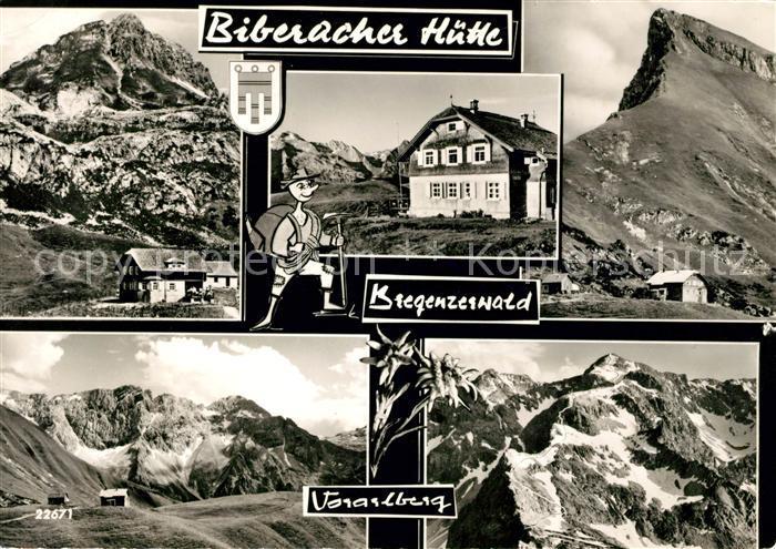 AK / Ansichtskarte Bregenzerwald Biberacher Huette Voarlberg