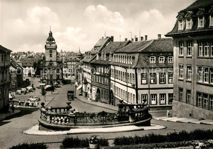 AK / Ansichtskarte Gotha Thueringen Blick vom Schlossberg Hauptmarkt Kat. Gotha