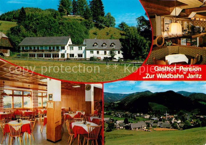 AK / Ansichtskarte Rettenegg Gasthof Pension Zur Waldbahn Gastraeume Panorama Kat. Rettenegg