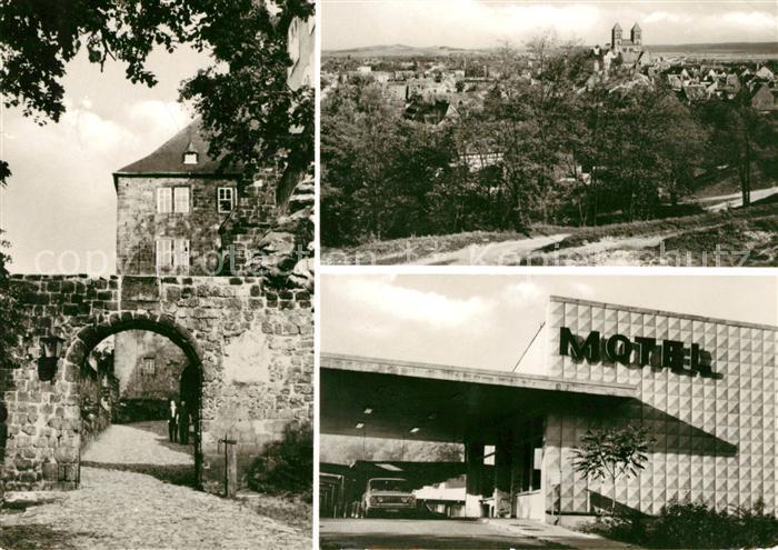 AK / Ansichtskarte Quedlinburg Aufgang zum Schloss Motel Kat. Quedlinburg