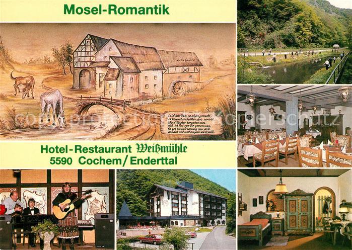 AK / Ansichtskarte Cochem Mosel Hotel Restaurant Weissmuehle Mosel Romantik Karikatur Kat. Cochem