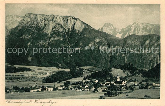 AK / Ansichtskarte Oberaudorf mit Kaisergebirge Kat. Oberaudorf