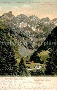 AK / Ansichtskarte Einoedsbach Der suedlichst bewohnte Ort des Deutschen Reiches Alpen Kat. Oberstdorf