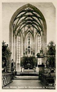AK / Ansichtskarte Grades Inneres der Wallfahrtskirche St Wolfgang