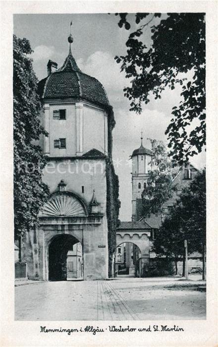 AK / Ansichtskarte Memmingen Westertor und St Martin Kirche Kat. Memmingen