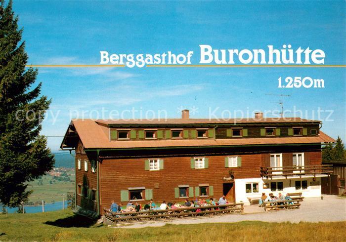 Ak Wertach Im Allgau Blick Zum Berggasthof Buronhutte Landschaft