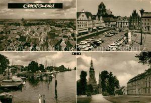 AK / Ansichtskarte Greifswald Platz der Freundschaft Hafen Rubenow Platz