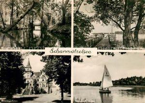 AK / Ansichtskarte Scharmuetzelsee Springseebruecke Wendisch Rietz Schwarzhorn Kat. Bad Saarow