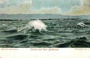 AK / Ansichtskarte Bodensee Region Sturm auf dem Bodensee