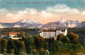 AK / Ansichtskarte Traunstein Oberbayern Institut Sparz mit Hochkalter und Watzmann Kat. Traunstein