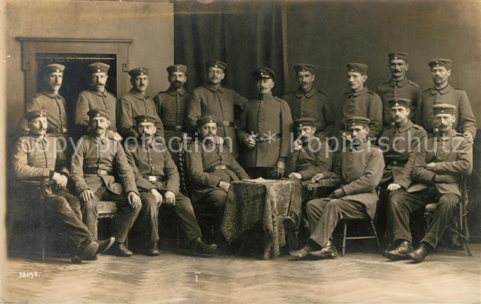 AK / Ansichtskarte Memmingen Offiziere Gruppenbild Kat. Memmingen