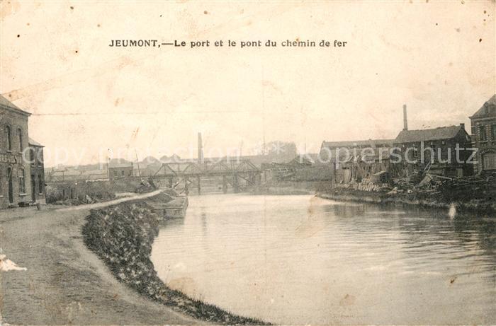 AK / Ansichtskarte Jeumont Le port et pont du chemin de fer Kat. Jeumont
