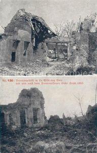 AK / Ansichtskarte La Ville aux Bois Bauerngehoeft vor und nach dem Trommelfeuer September 1915 Ruinen 1. Weltkrieg Kat. La Ville aux Bois