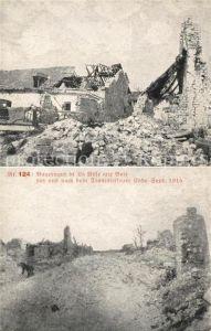 AK / Ansichtskarte La Ville aux Bois Bauerngut vor und nach dem Trommelfeuer September 1915 Truemmer 1. Weltkrieg Nr. 124 Kat. La Ville aux Bois