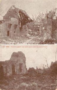 AK / Ansichtskarte La Ville aux Bois Bauerngehoeft vor und nach dem Trommelfeuer 1. Weltkrieg Nr 130 Kat. La Ville aux Bois