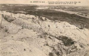 AK / Ansichtskarte Berry au Bac Tranchee allemande au flanc de la Cote Grande Guerre Kat. Berry au Bac
