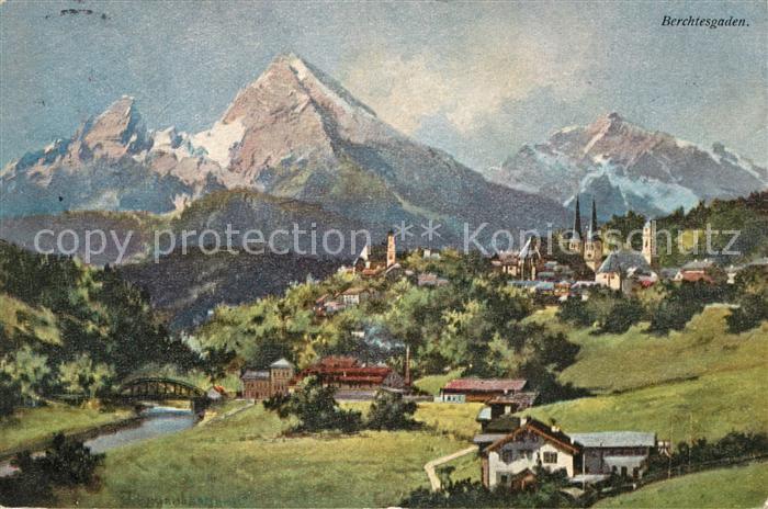 AK / Ansichtskarte Berchtesgaden Panorama Kat. Berchtesgaden