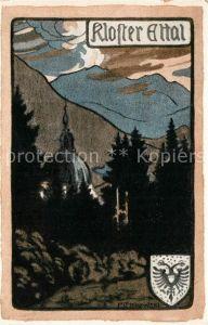 AK / Ansichtskarte Ettal Kloster Ettal Kuenstlerkarte Kat. Ettal