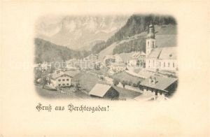 AK / Ansichtskarte Berchtesgaden Ortsansicht mit Kirche Kat. Berchtesgaden