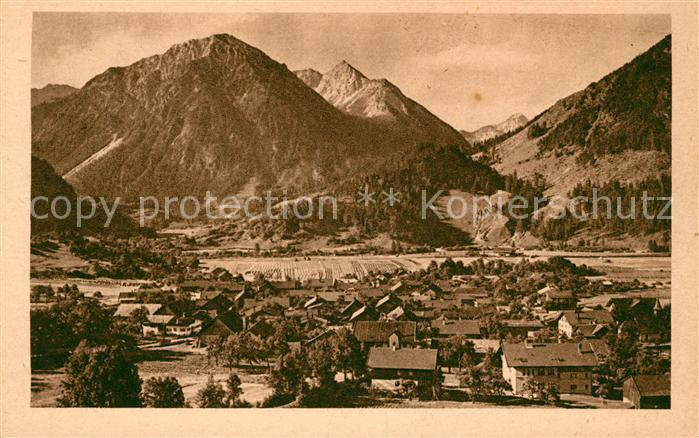 AK / Ansichtskarte Bad Oberdorf Panorama Kat. Bad Hindelang