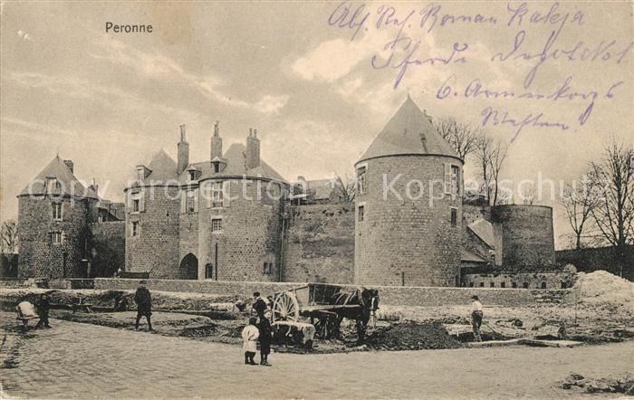 AK / Ansichtskarte Peronne Somme Ruines du Chateau Kat. Peronne