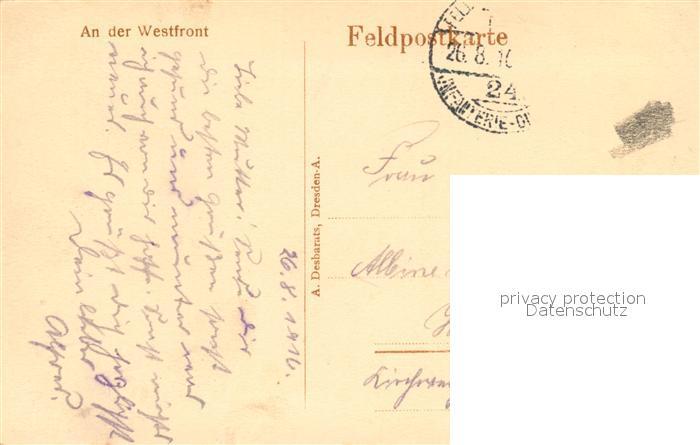 Westfront 1 Weltkrieg Karte.Ak Ansichtskarte Kriege An Der Westfront 1 Weltkrieg Kat Kriege