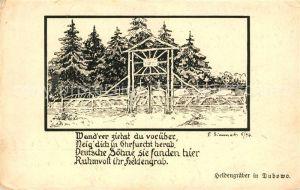 AK / Ansichtskarte Dubowo Heldengraeber Gedicht Kuenstlerkarte