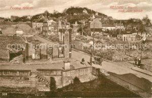 AK / Ansichtskarte Rethel Ardennes Blick zum Schloss Feldzug 1914 15 Truemmer Ruinen 1. Weltkrieg Kat. Rethel