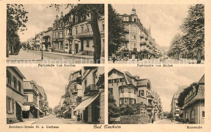 AK / Ansichtskarte Bad Nauheim Parkstrasse Reinhardstrasse Kurhaus Kurstrasse Kat. Bad Nauheim