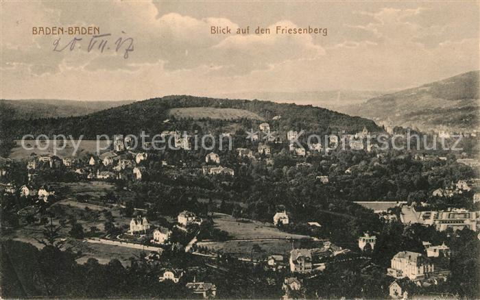 AK / Ansichtskarte Baden Baden Panorama Blick auf den Friesenberg Kat. Baden Baden